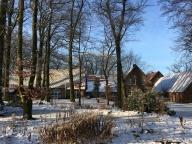 Winter über dem Hof